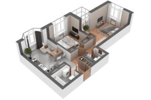 ЖК Гранд Бурже: планировка 2-комнатной квартиры 59.11 м²