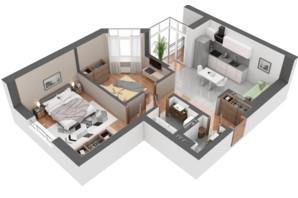 ЖК Гранд Бурже: планировка 2-комнатной квартиры 62.89 м²