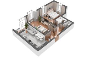 ЖК Гранд Бурже: планировка 2-комнатной квартиры 65.1 м²