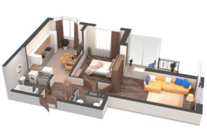 ЖК Гранд Бурже: планировка 2-комнатной квартиры 60.01 м²
