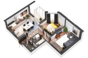 ЖК Гранд Бурже: планировка 2-комнатной квартиры 62.76 м²
