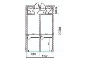 ЖК Grand Family Apartment: планування 3-кімнатної квартири 53 м²