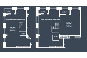 ЖК Грани: планировка 6-комнатной квартиры 188.3 м²