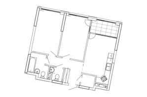ЖК Great: планування 2-кімнатної квартири 69.68 м²