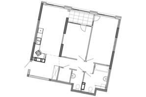 ЖК Great: планування 2-кімнатної квартири 82.04 м²