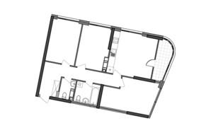 ЖК Great: планування 3-кімнатної квартири 89.2 м²