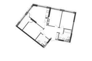 ЖК Great: планування 3-кімнатної квартири 81.61 м²