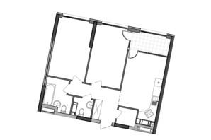 ЖК Great: планування 2-кімнатної квартири 70.1 м²