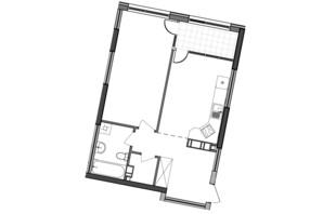 ЖК Great: планування 1-кімнатної квартири 54.97 м²