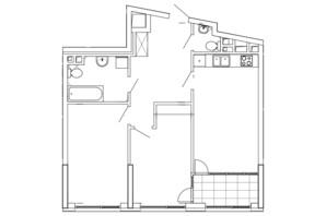 ЖК Great: планування 2-кімнатної квартири 76.12 м²