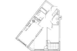 ЖК Great: планування 2-кімнатної квартири 74.26 м²