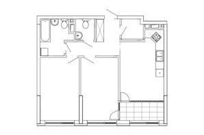 ЖК Great: планування 2-кімнатної квартири 70.92 м²