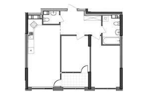 ЖК Great: планування 2-кімнатної квартири 70.48 м²