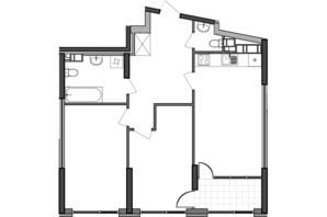 ЖК Great: планування 2-кімнатної квартири 76.55 м²