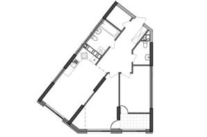 ЖК Great: планування 2-кімнатної квартири 75.18 м²