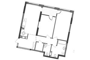 ЖК Great: планування 2-кімнатної квартири 83.26 м²