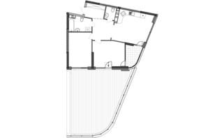 ЖК Great: планування 2-кімнатної квартири 95.13 м²
