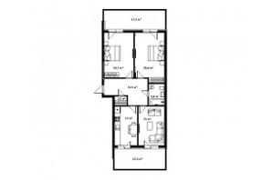ЖК Green Land (Грин Ленд): планировка 3-комнатной квартиры 97 м²