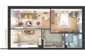 ЖК Green Side: планування 2-кімнатної квартири 55.8 м²
