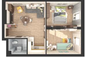 ЖК Green Side: планування 2-кімнатної квартири 49.4 м²
