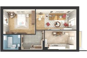 ЖК Green Side: планування 2-кімнатної квартири 56.1 м²