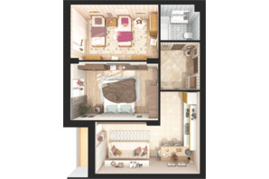 ЖК Green Side: планировка 2-комнатной квартиры 63.2 м²
