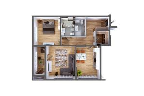 ЖК Greenville Park Kyiv: планировка 2-комнатной квартиры 87.4 м²