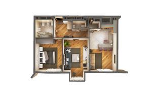ЖК Greenville Park Kyiv: планировка 2-комнатной квартиры 68 м²