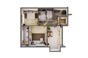 ЖК Greenville Park Kyiv: планировка 2-комнатной квартиры 89.7 м²
