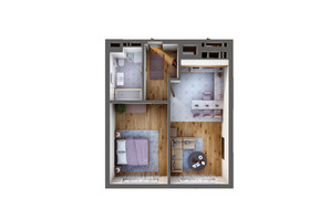 ЖК Greenville Park Kyiv: планировка 1-комнатной квартиры 50.6 м²