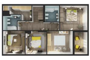 ЖК Greenville Park Kyiv: планировка 5-комнатной квартиры 238.7 м²