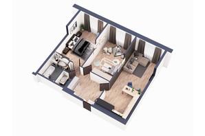 ЖК Greenville Park Kyiv: планировка 2-комнатной квартиры 84.1 м²