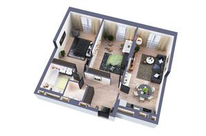 ЖК Greenville Park Kyiv: планировка 2-комнатной квартиры 82.3 м²