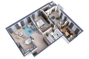ЖК Greenville Park Kyiv: планировка 4-комнатной квартиры 143.7 м²