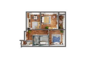 ЖК Greenville Park Kyiv: планування 2-кімнатної квартири 78.4 м²