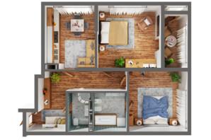 ЖК Greenville Park Kyiv: планування 2-кімнатної квартири 78.7 м²