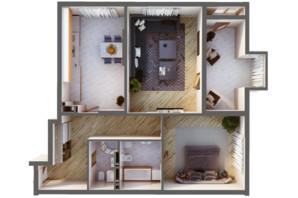 ЖК Greenville Park Kyiv: планування 2-кімнатної квартири 98.9 м²