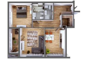 ЖК Greenville Park Kyiv: планування 2-кімнатної квартири 87.1 м²