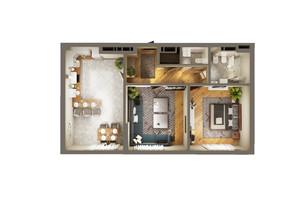 ЖК Greenville Park Kyiv: планування 2-кімнатної квартири 67.9 м²