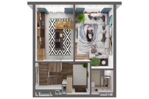 ЖК Greenville Park Kyiv: планування 3-кімнатної квартири 98.1 м²