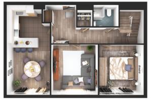 ЖК Greenville Park Kyiv: планування 4-кімнатної квартири 182.2 м²