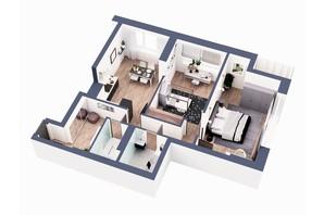 ЖК Greenville Park Kyiv: планування 2-кімнатної квартири 78 м²