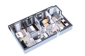 ЖК Greenville Park Kyiv: планування 3-кімнатної квартири 98.3 м²