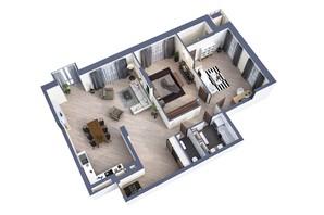 ЖК Greenville Park Kyiv: планування 3-кімнатної квартири 125.6 м²