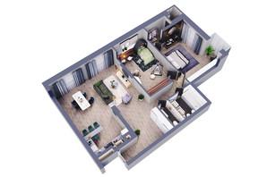 ЖК Greenville Park Kyiv: планування 3-кімнатної квартири 126 м²