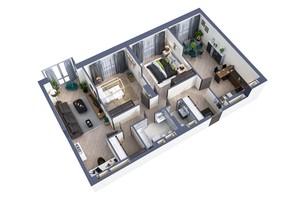 ЖК Greenville Park Kyiv: планування 3-кімнатної квартири 89.2 м²