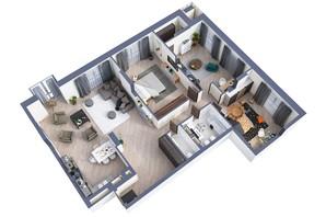 ЖК Greenville Park Kyiv: планування 4-кімнатної квартири 143.7 м²