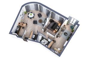ЖК Greenville Park Kyiv: планування 3-кімнатної квартири 109 м²