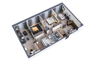 ЖК Greenville Park Kyiv: планування 3-кімнатної квартири 103.1 м²