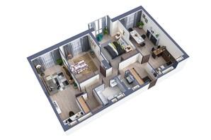 ЖК Greenville Park Kyiv: планування 3-кімнатної квартири 105.3 м²